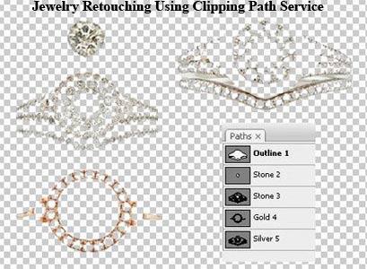 Jewelry retouching using clipping path service